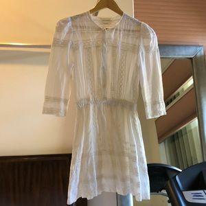 Tularosa white cotton dress size xs